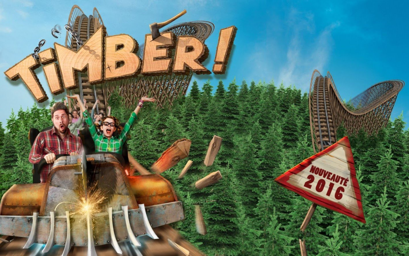 Timber! im Walibi Rhone-Alpes