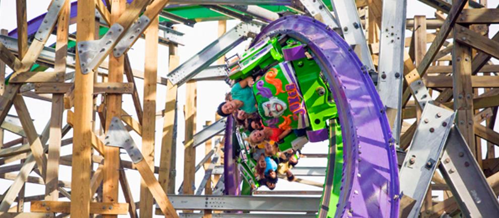 Joker im Six Flags Discovery Kingdom (c) Six Flags