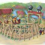 """Konzeptzeichnung der Kinderachterbahn """"Der kleine Zar"""" (c) Hansa Park"""