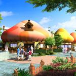 Artwork Schlümpfe Dorf (c) Dubai Parks and Resort