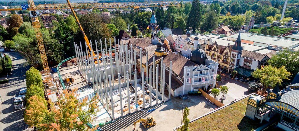 """Derzeit noch im Bau """"Project V"""" (c) Europa Park"""