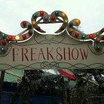 """Eingangsschild zu der Maze """"Freakshow"""" (c) Twitter User @Alon_Rheinruhr"""