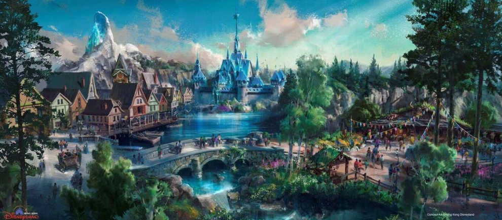 "Der kommende ""Frozen"" Themenbereich im Hong Kong Disneyland © Disney"