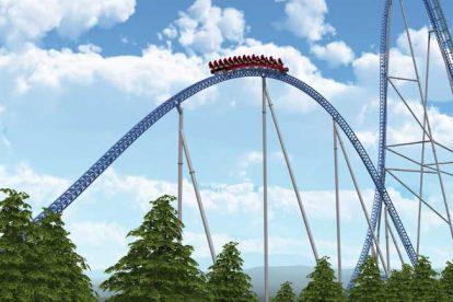 """""""Hyperion"""" wird Europa´s zweit schnellste Achterbahn werden. Gebaut wird die neue Achterbahn in Energylandia von Intamin."""