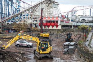 So sieht aktuell die Baustelle aus (c) Blackpool Pleasure Beach