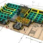 """Ein erster Entwurf der """"Jump Arena"""" in den Fort Fun L.A.B.S. (c) Fort Fun Abenteuerland"""
