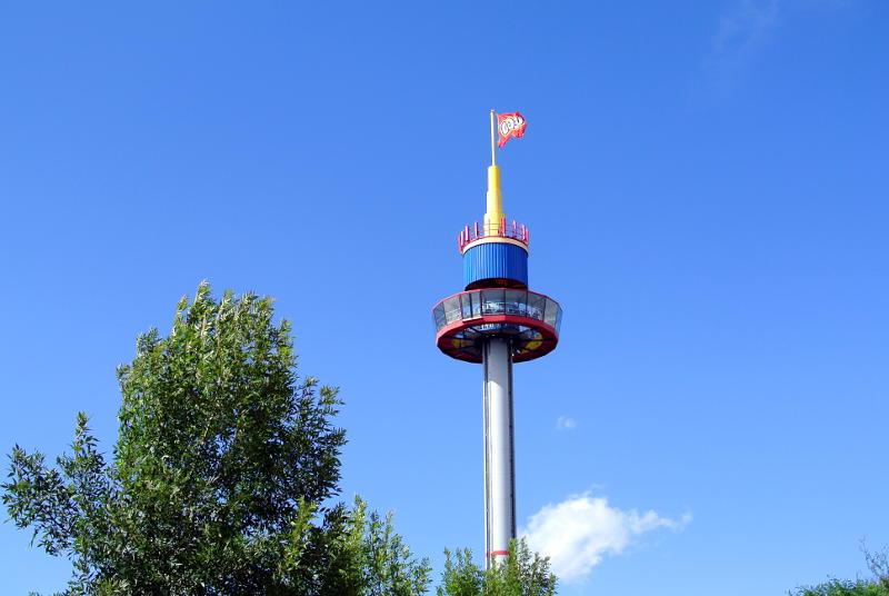 Der Aussichtsturm im Legoland Deutschland