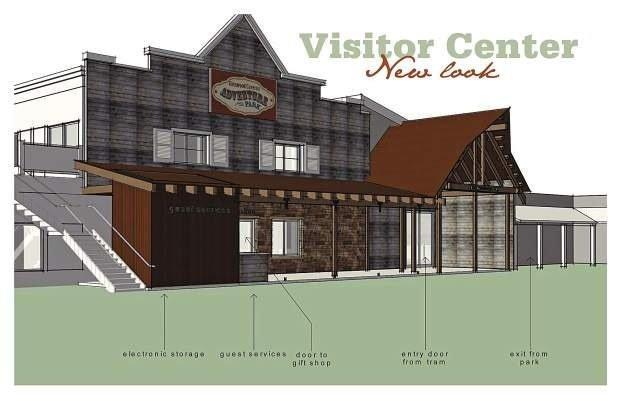 So wird das neu gestaltete Besucherzentrum aussehen (c) Glenwood Caverns Adventure Park