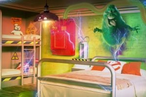So soll das Ghostbusterszimmer im Heide Park Abenteuerhotel aussehen (c) Heide Park Resort