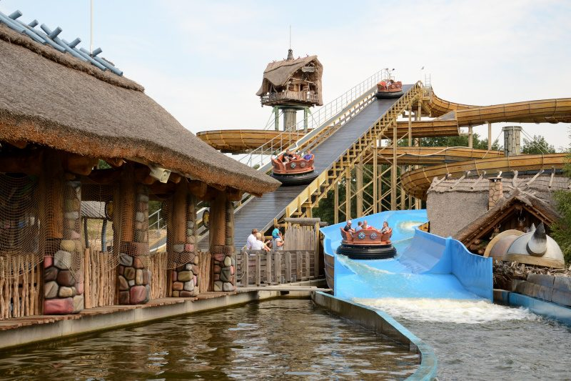 """Die Rafting Bahn """"Fluch des Teutates"""" im Freizeitpark Plohn (c) Maik Rimpl"""