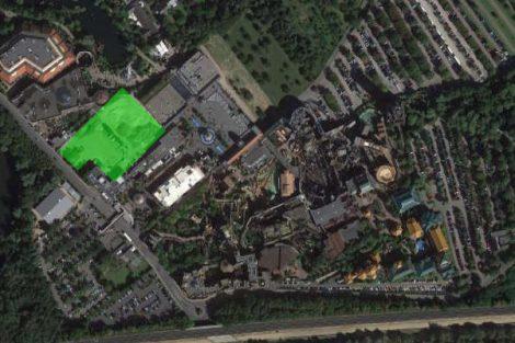 "Hier soll ""Rookburgh"" entstehen (c) ThemePark Central/Google Maps"