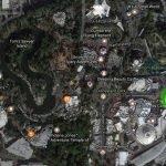 Vielleicht der Standort der Bahn im Disneyland (c) Google / ThemePark Central