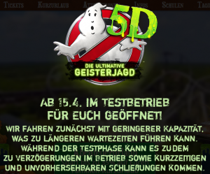 Heide Park Resort Ghostbusters 5D Testphase