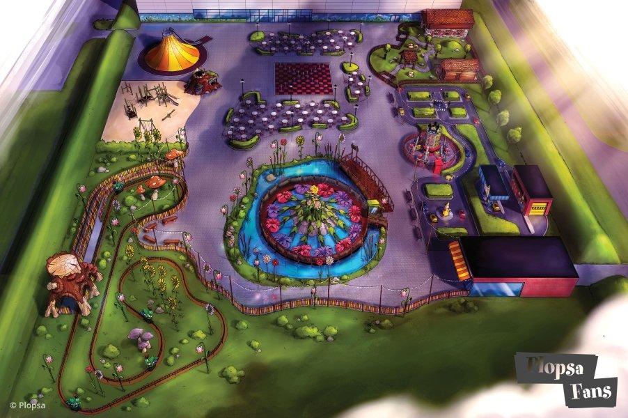 """Eine Übersicht vom Indoor Bereich des Parks """"Majaland"""" (c) http://plopsafans.be/"""