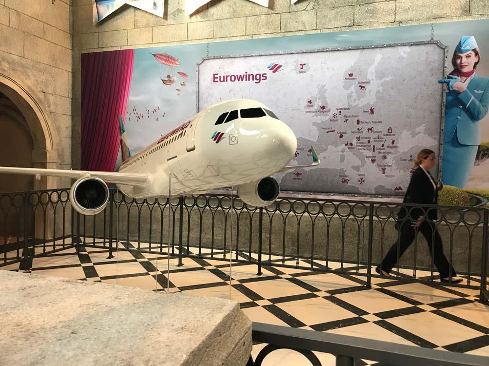 """Eurowings ist der Partner des """"Voletarium"""" (c) Dennis Vitt/ThemePark Central"""