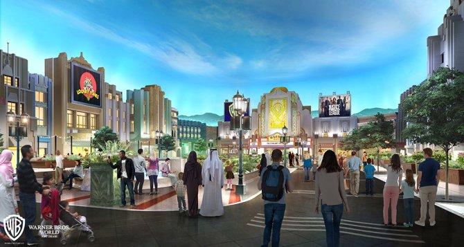 """""""Warner Bros. Plaza"""" (c) Warner Bros. Movie World"""