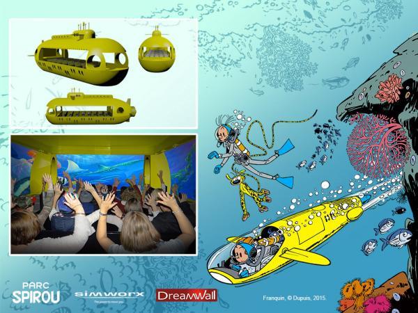 """""""Underwater Adventure"""" (c) Parc Spirou"""