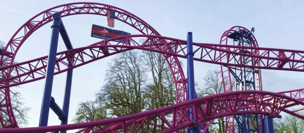 "So sieht ""Adrenaline Peak Roller Coaster"" aus (c) Oak´s Amusement Park"
