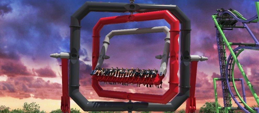 """Harley Quinn Spinsanity"" (c) Six Flags Over Texas"