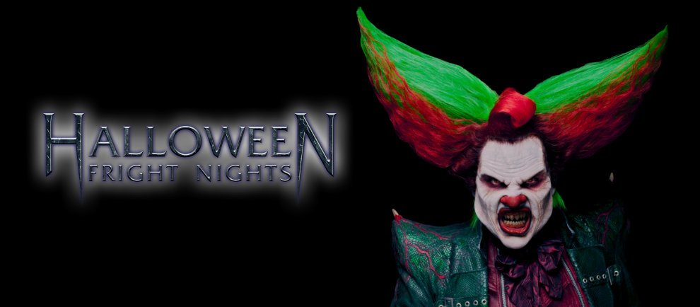 Halloween Fright Nights mit Eddie dem Clown (c) Bilder Walibi Holland/Collage ThemePark-Central.de