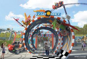 """So wird der neue Eingangsbereich der """"The Great Lego Race"""" Achterbahn Fahrt aussehen (c) Legoland Deutschland"""
