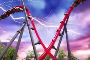 """Harley Quinn Crazy Coaster"" (c) Six Flags Discovery Kingdom"