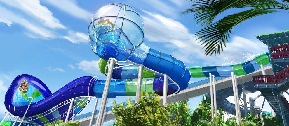 "So wird die neue Rutsche ""Sea Ray Rush"" fertig aussehen (c) Sea World Orlando / Aqauatica"