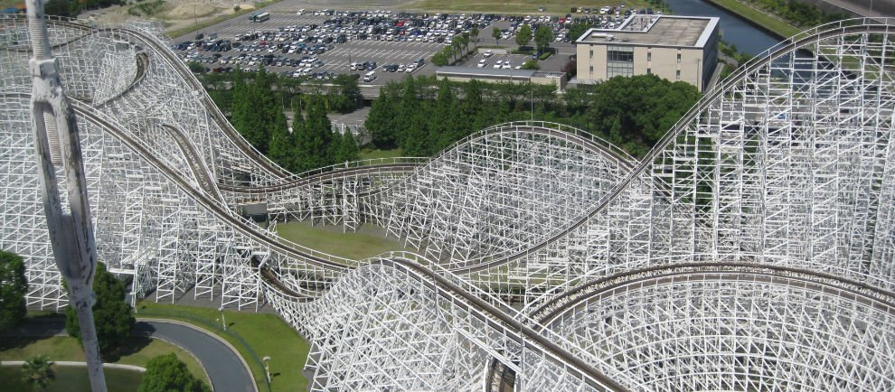 """White Cycline"" im Nagashima Spa Land"