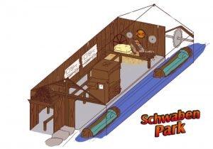 """So wird der neue Eingangsbereich der """"Wasserbahn"""" im Schwaben Park aussehen. (c) Schwaben Park"""