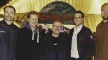 Volker Schadt (Objektleitung Rolling Stone), Folkert Koopmans (Geschäftsführer FKP Scorpio), Sebastian Zabel (Chefredakteur Rolling Stone), Thomas Mack (geschäftsführender Gesellschafter Europa-Park) und Stefan Thanscheidt (Geschäftsführer FKP Scorpio und Head of Festivalbooking), v.l., freuen sich auf die neue Zusammenarbeit. (c) Europa-Park