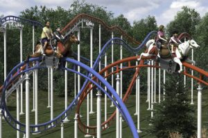 Steeplechase Coaster Konzept (c) S&S Worldwide