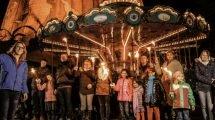 Der Fackelzug in Kernies Familienpark (c) Wunderland Kalkar