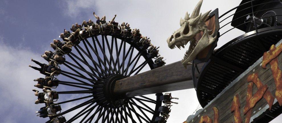 """Der Gyro Swing """"Goliath"""" von Intamin (c) Adventure World"""