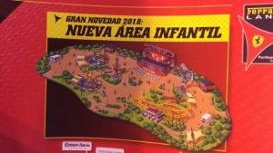 Der Park wirbt bereits für den neuen Bereich (c) Ferrari Land