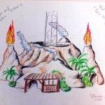 """Konzept Zeichnung """"Vulcano"""" (c) Freizeit-Land Geiselwind"""