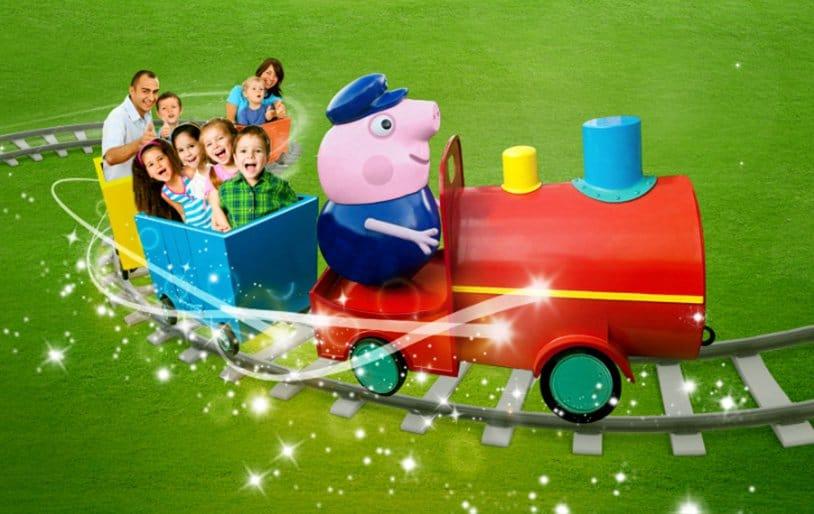Auch eine spannende Zugfahrt, kommt in den neuen Themenbereich (c) Heide Park Resort