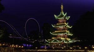 Besonders am Abend herrscht im Park eine tolle Atmosphäre (c) Tivoli Gardens