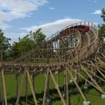 "Dies wird das finale Element vom ""Timber Wolf"" (c) Worlds of Fun"
