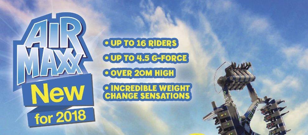 """""""Air Maxx"""" die Neuheit 2018 (c) Brean Theme Park"""