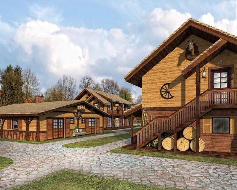 Energylandia Western Dorf Konzept 3
