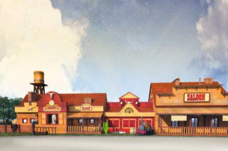 Energylandia Western Dorf Konzept 7