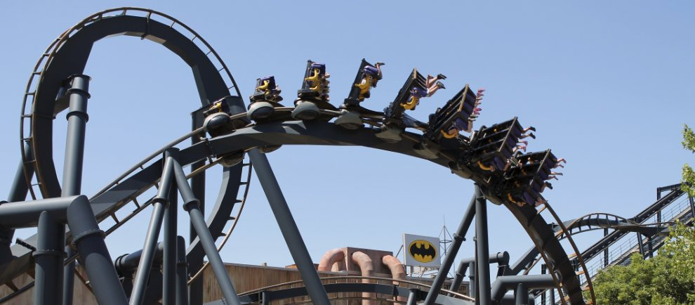 """Batman: The Ride"" (c) Six Flags St. Louis"