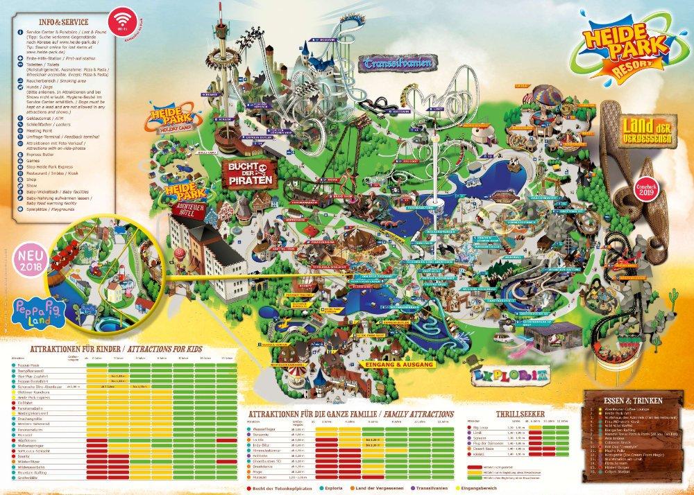 heide park karte Viele Neuheiten und Veränderungen 2018 im Heide Park Resort