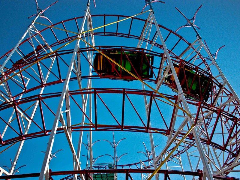 "Der ehemalige ""Galaxi Coaster"" des Parks (c) Palace Playland"