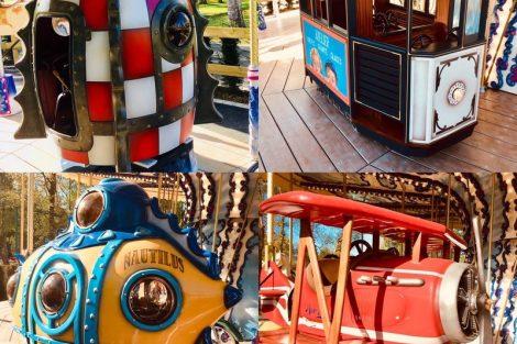Egal ob Rakete oder U-Boot, dass Karussell hat vieles zu bieten © Parc Bagatelle
