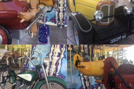 """Die Auswahl der """"Transportgeräte"""" ist schier unendlich © Parc Bagatelle"""