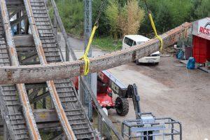 """Endlich ist der Umbau der Holzachterbahn """"Colossos"""" gestartet © Heide Park Resort"""