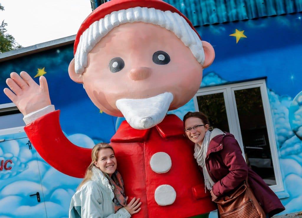 Auch der Sandmann begrüßt die Besucher im Filmpark Babelsberg (c) R. Budweth