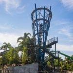 """Eine beeindruckende Konstruktion des Aufzugs von """"Infinity Falls""""© SeaWorld Orlando"""