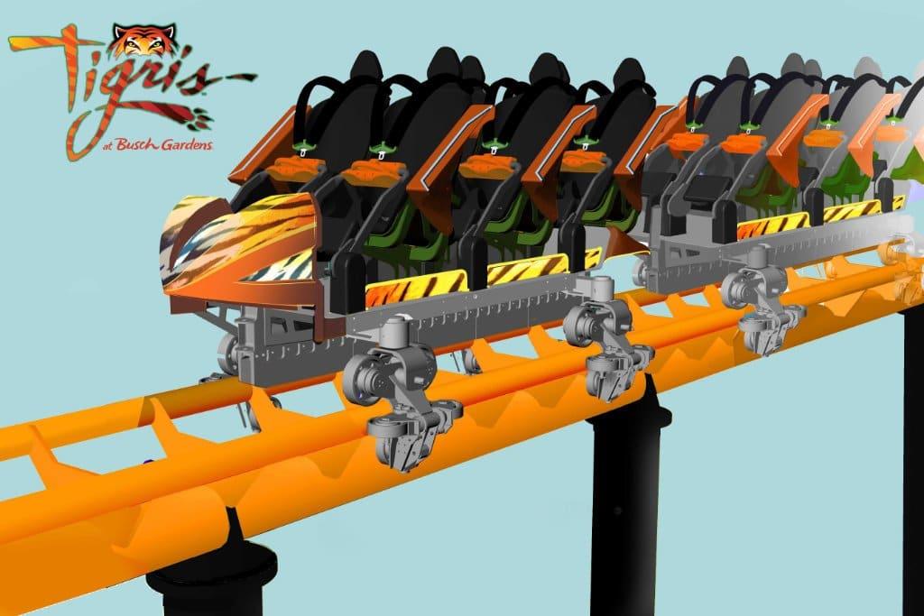 """So werden die Wagen von """"Tigris"""" aussehen. © Busch Gardens Tampa Bay"""